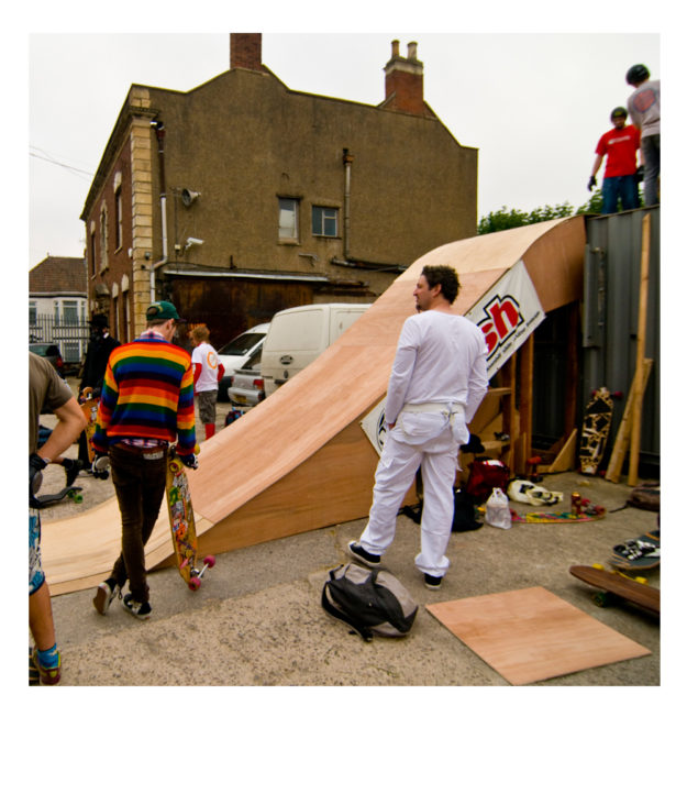 That time we built a roll in off the office roof... Bath To Bristol, 2010