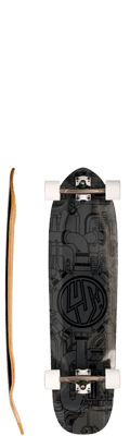 Lush Longboards Machine 3D X-Tuff Complete Longboard